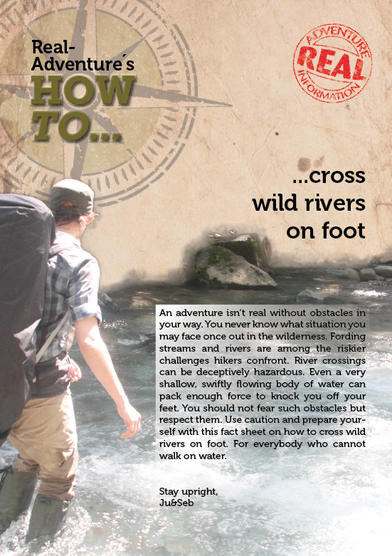 How to cross wild rivers on foot